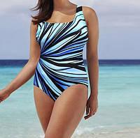 Женский слитный купальник батал разноцветный - размер 3XL (бюст до 112см, талия 72-96см, бедра не указывают)