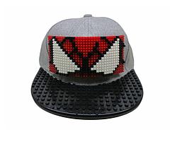 Кепка-конструктор с прямым козырьком с логотипом / бейсболки лего, фото 2