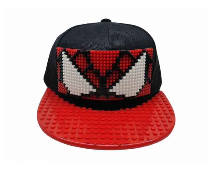 Кепка-конструктор с прямым козырьком с логотипом / бейсболки лего