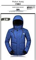 North Face мужской теплый пуховик с перчатками р.50-52