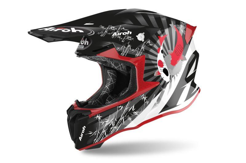 Шлем кроссовый Airoh Aviator Twist 2.0 Katana Red Gloss