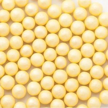 Стік-пакет кульки цукр d=5мм перламутрові 5г, жовті
