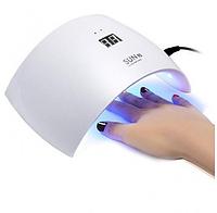 УФ Лампа для ногтей SUN 9S, LED лампа для маникюра и педикюра гель лака БЕЛАЯ