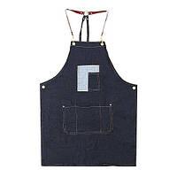 Фартук джинсовый с карманом