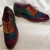 Туфли женские, оригинал BARKER Англия, натуральная кожа, ручной пошив, размер 39/40