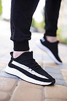 Мужские летние кроссовки Shovel Sport, черно белые, плотная ткань, реплика