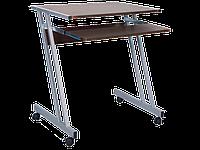 Рабочий стол B-233 Signal 60x48 столешница МДФ, цвет: темный орех / алюминиевая рама