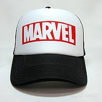 Кепка тракер MARVEL чорно біла, фото 1