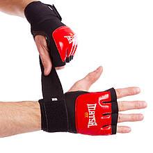 Перчатки с бинтом внутренние гелевые кожаные MATSA MA-6021 (цвета в ассортименте)
