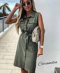 """Жіноча сукня """"Сафарі"""" від СтильноМодно, фото 8"""