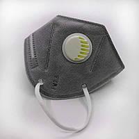 Маска респиратор KN95/PM2.5 многоразовая универсальная с угольным фильтром