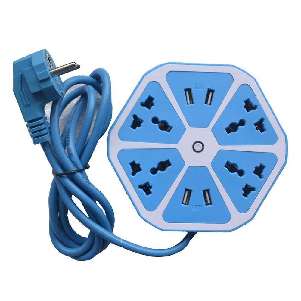 Тройник удлинитель для розеток USB Nexagon Socet