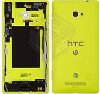 Задняя крышка батареи для HTC Windows Phone 8X C620e, желтый, оригинал