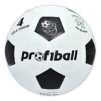 Мяч футбольный VA 0008 размер 4, резина Grain, 290г, Profiball, 3 цвета