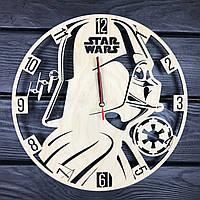 Часы ручной работы настенные «Время Звездных Войн», фото 1