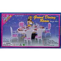 """Мебель """"Gloria """" 2312 (36шт/3) 48 дет., для столовой, стол, стулья, …в кор. 29*17*6см"""