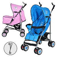 Коляска детская ARIA S1-1 прогулочная, 2 цвета (розовая), колеса 8шт(6д), чехол на ножки В.Н