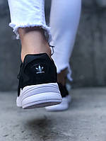 Мужские кроссовки Adidas Falcon Black White (Черный). [Размеры в наличии: 41,43,44], фото 1