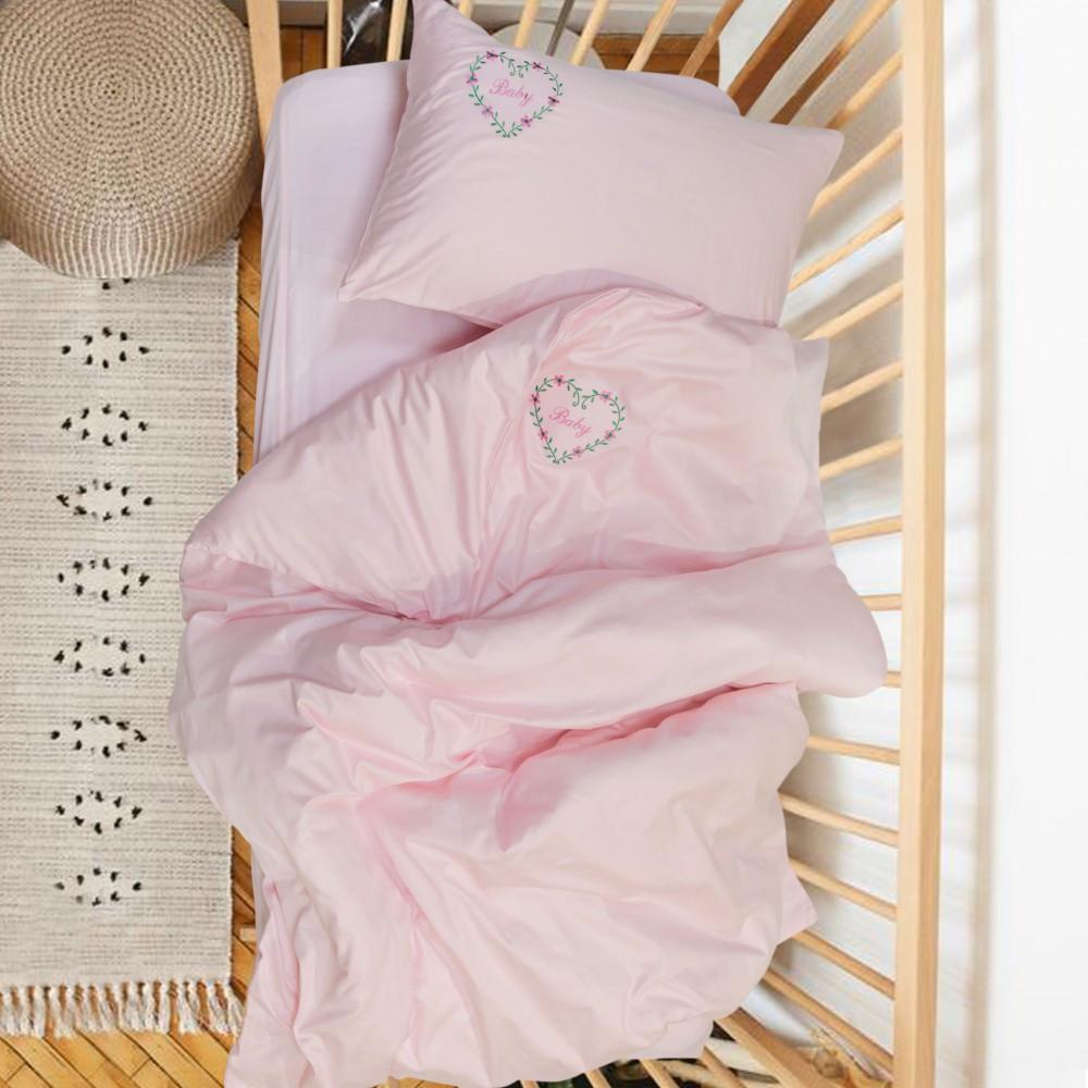 """""""Baby"""" Полукомплект постельного белья детский с вышивкой Сатин Viluta™"""