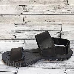 Кожаные мужские сандалии на липучках