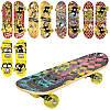 Скейт MS 0324-3 43-13см,пласт.подвеска,колесаПВХ,7слоев,подш608Z,6 видов дерево