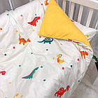 Комплект постельного белья детский Сатин Viluta комплект в детскую кроватку, фото 4