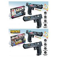 Пистолет 8180-32-32B 22 см, звук,свет, подвижный ствол, на бат-ке, в кор-ке 22-14,5-4 см