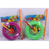 Каталочка колесо 069 (72шт/2) 2 цвета, в пакете 26-26-4 см