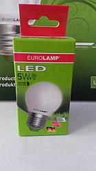 Лампа светодиодная энергосберегающая EUROLAMP LED G45 5W E27 4000K