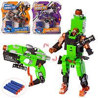 Трансформер HW-501-2-3 робот+пистолет, мягкие пули-присоски 4 шт, 3 вида, 28-31,5-5 см