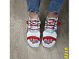 Босоніжки спортивні на високій платформі білі з червоним 37, 38, 40, 41 р. (2210), фото 7