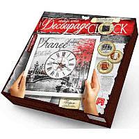 """Набор Часы """"Decoupage Clock"""" с рамкой DKС-01-05 Париж"""