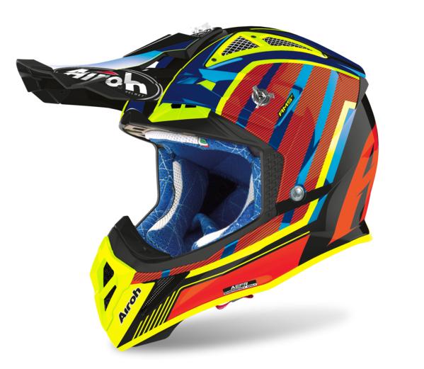 Шлем кроссовый Airoh Aviator 2.3 AMS2 Glow Chrome Orange