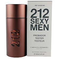 Carolina Herrera 212 Sexy Men туалетная вода 100 ml. (Тестер Каролина Эррера 212 Секси Мен), фото 1