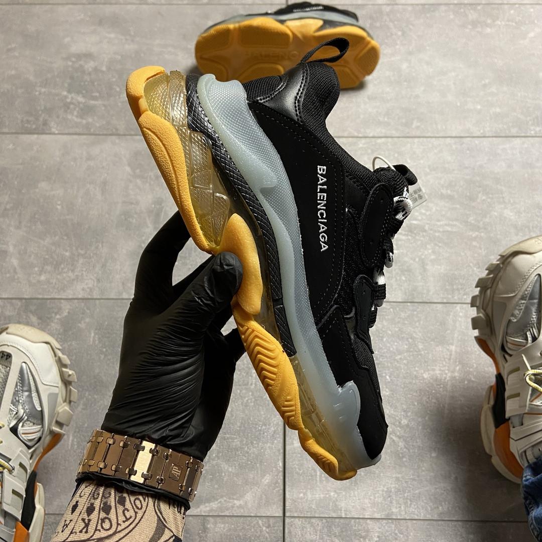 Женские кроссовки Balenciaga Triple S Clear Sole Black/Yellow. [Размеры в наличии: 38,40,41]