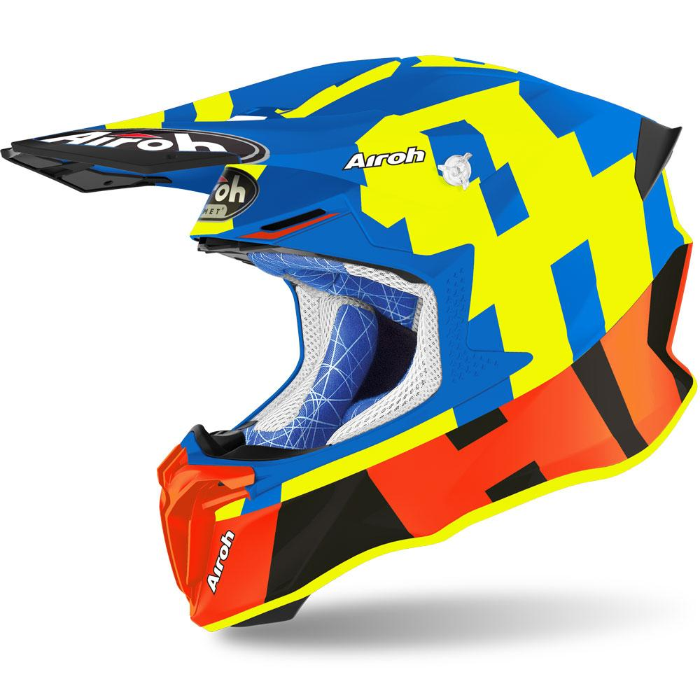 Шлем кроссовый Airoh Aviator Twist 2.0 Frame Azure Matt