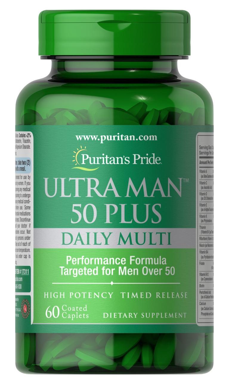Витамины и минералы Puritan's Pride Ultra Man 50 Plus 60 caplets