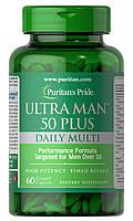 Витамины и минералы Puritan's Pride Ultra Man 50 Plus 60 caplets, фото 1