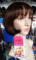 Парик женский Dragon стрижка каре из натуральных волос цвет шоколад