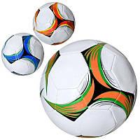 Мяч футбольный EV 3329 размер 5, ПВХ 1,8мм, 32панели, 300-320г, 3 цвета