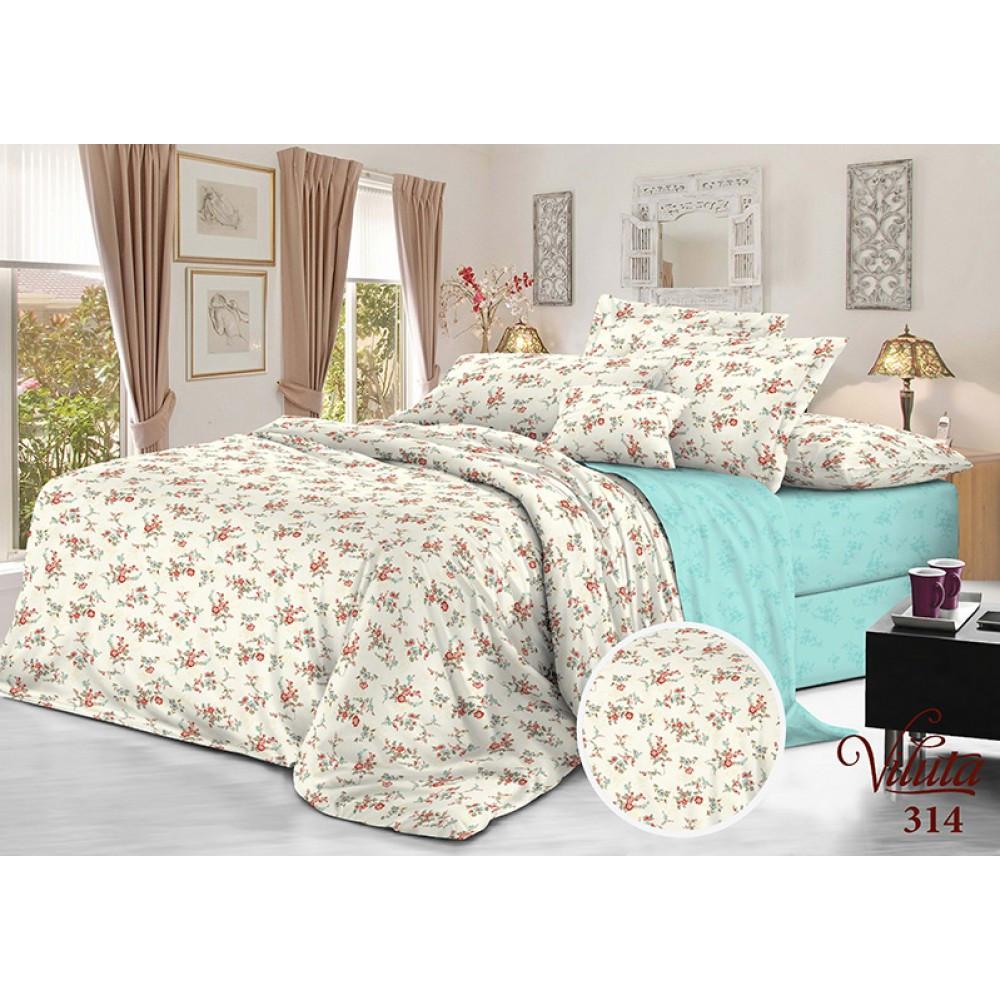Комплект Постельного белья Полуторный сатин Vilutа постельный набор