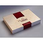Постільна білизна Евро розмір сатин Viluta комплект постільної білизни, фото 6