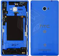 Задняя крышка батареи для HTC Windows Phone 8X C620e, синий, оригинал