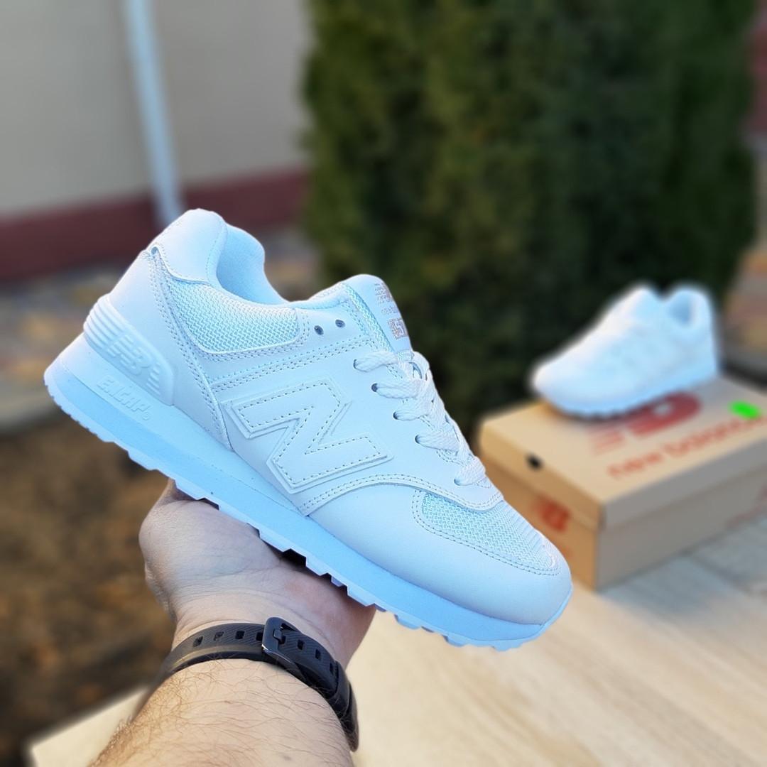 Женские кроссовки New Balance 574 (белые) 2969