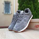 Замшеві чоловічі кросівки New Balance 574 (сірі) 10195, фото 3