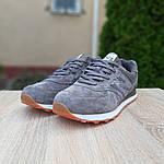 Замшеві чоловічі кросівки New Balance 574 (сірі) 10195, фото 6