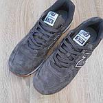 Замшеві чоловічі кросівки New Balance 574 (сірі) 10195, фото 7