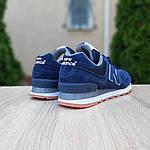 Замшеві чоловічі кросівки New Balance 574 (синьо-коричневі) 10196, фото 2