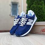 Замшеві чоловічі кросівки New Balance 574 Рефлективні (сині) 10198, фото 2