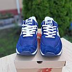 Замшеві чоловічі кросівки New Balance 574 Рефлективні (сині) 10198, фото 6